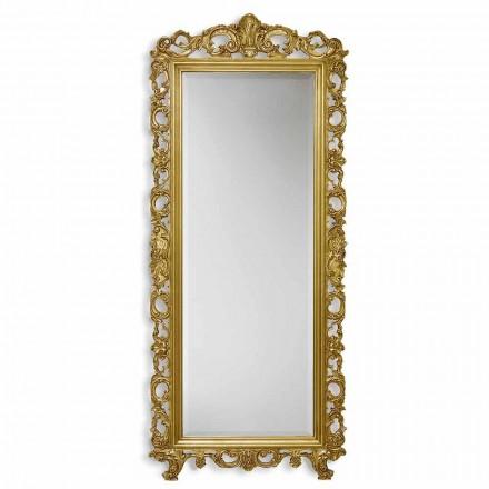 Specchiera da Parete Legno Verticale Stile Barocco Made in Italy - Francesco