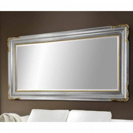 Specchiera parete prodotta a mano legno realizzata in Italia Cristian