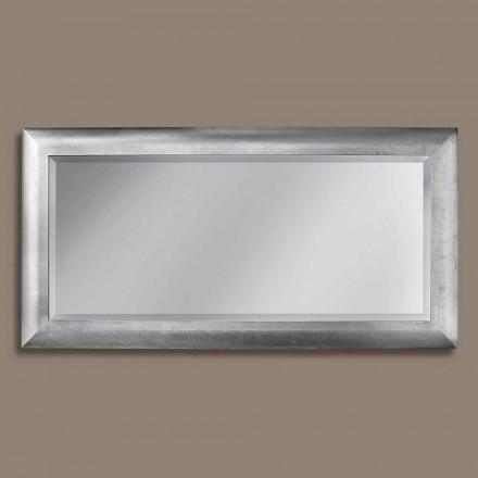 Specchiera da Parete Rettangolare in Legno Moderno Made in Italy - Manuel