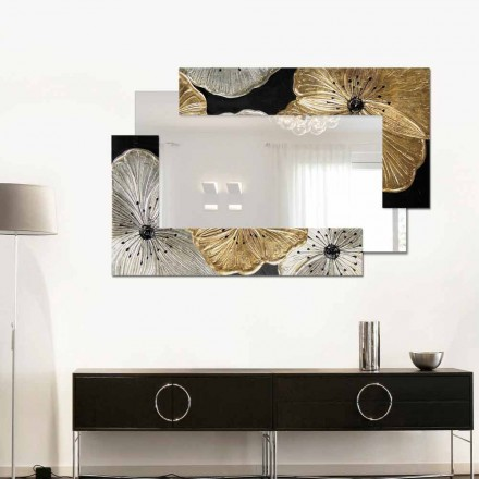 Specchiera da parete Petunia Oro Scomposta Piccola