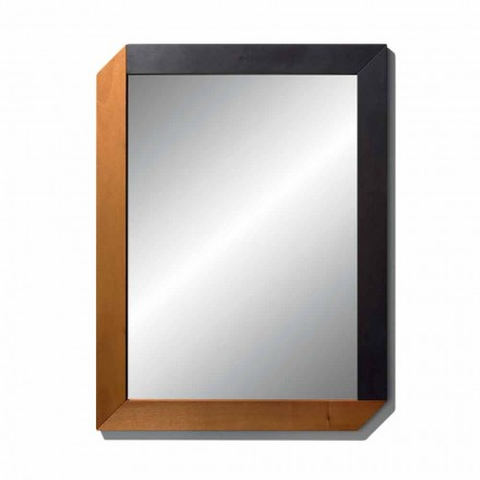 Specchiera Rettangolare con Cornice in Legno di Design Made in Italy - Cira