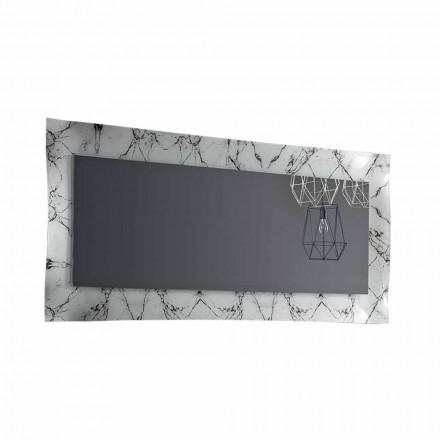 Specchiera Rettangolare di Design con Cornice in Vetro Made in Italy - Eclisse