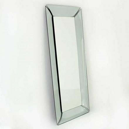 Specchiera Rettangolare Grande in Cristallo Design  Made in Italy - Twin