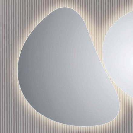 Specchio a muro da bagno con retroilluminazione LEDPirro