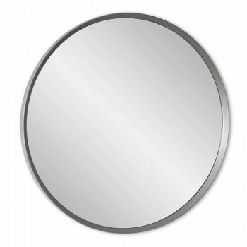 Specchio a Muro Rotondo con Cornice Laccata di Design Moderno Elegante - Odosso