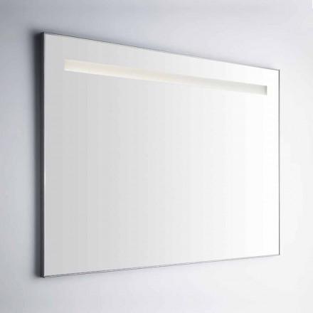 Specchio Bagno da Parete con Cornice in Simil Alluminio Made in Italy - Tobi