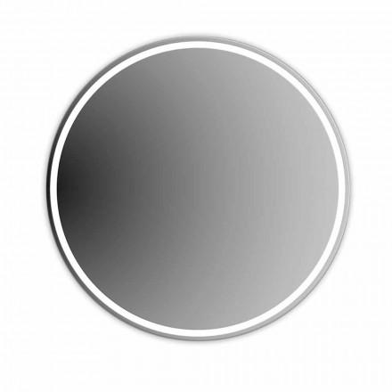 Specchio Bagno Rotondo Retroilluminato con Sabbiatura Made in Italy - Ranio