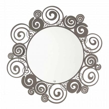 Specchio Circolare da Parete di Design Moderno in Ferro Made in Italy – Moira