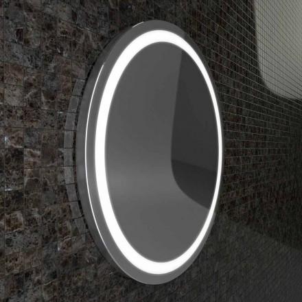 Specchio conbordi acciaio inox e luci LED design modernoCharly