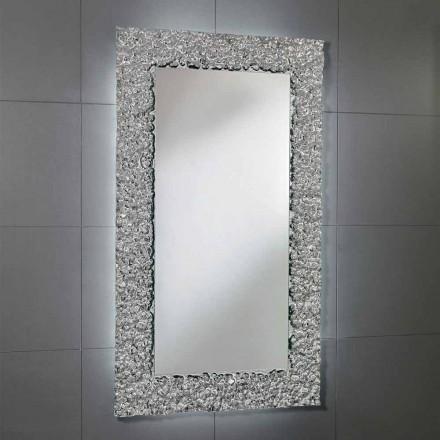 Specchio con decoro cornice in vetro design moderno,Cecilia