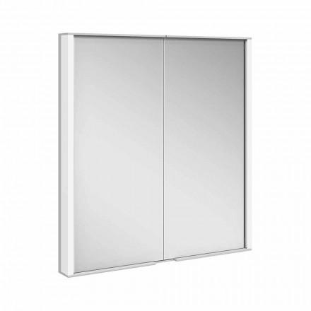 Specchio Contenitore da Incasso in Alluminio Verniciato Argento, Moderno- Demon