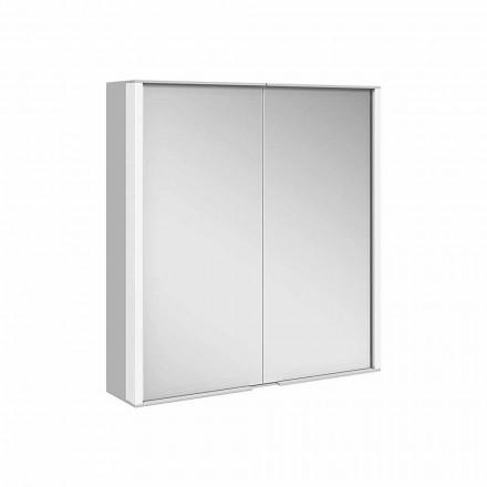 Specchio Contenitore da Parete in Alluminio con Illuminazione LED - Demon