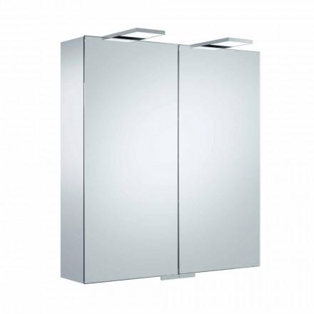 Specchio Contenitore da Parete con 2 Ante e Illuminazione LED, di Lusso - Cricco