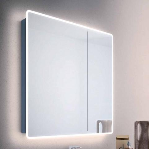 Specchio Bagno Con Ante.Specchio Contenitore Moderno A 2 Ante Da Bagno Con Luci Led Valter