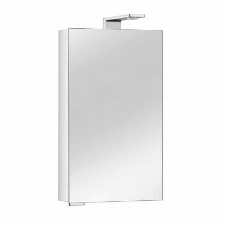 Specchio Contenitore con Anta in Cristallo e Dettagli Cromati, Moderno - Maxi