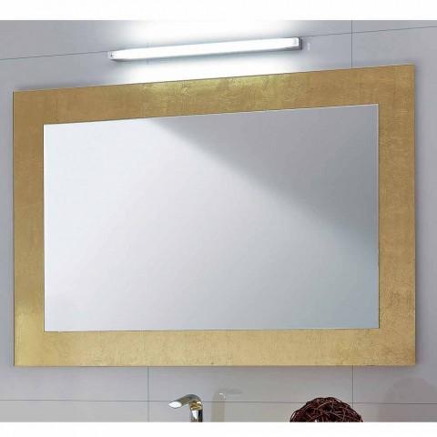 Specchi Decorati Per Bagno.Specchio Da Bagno Cornice In Vetro Decorato Foglia Oro Pascal