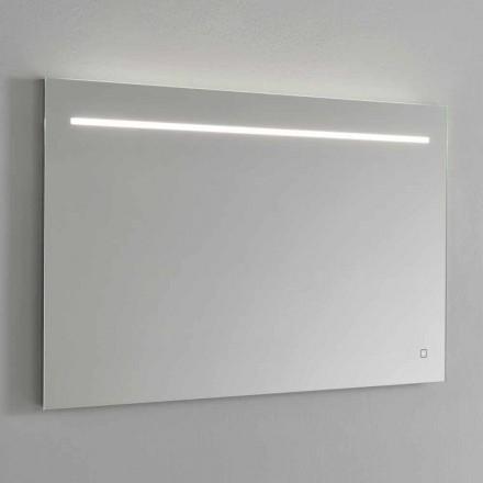 Specchio da Muro Moderno con Luce LED e Telaio in Acciaio Made in Italy - Yutta