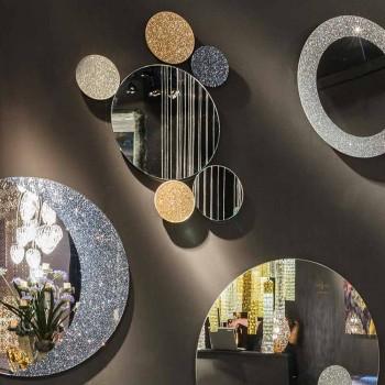 Specchio da muro rotondo di design modeno fatto in Italia ADDO