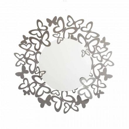 Specchio da Parete Circolare di Design Moderno in Ferro Made in Italy – Stelio