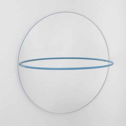Specchio da Parete con Appendiabiti in Acciaio Moderno Made in Italy - Chioccia