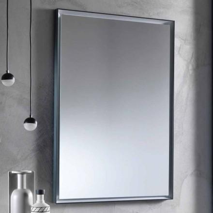 Specchio da Parete con Telaio in Alluminio e Luce LED Made in Italy - Chik