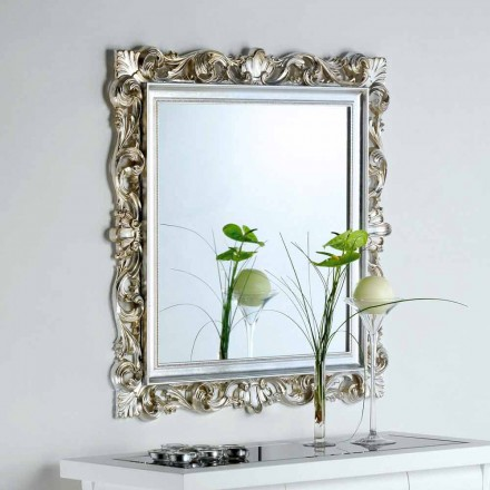 Specchio da parete di design con cornice decorata Marsy, 98x98 cm