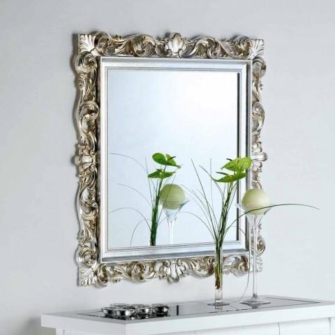 Specchio Da Parete Di Design Con Cornice Decorata Marsy 98x98 Cm