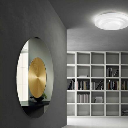 Specchio da parete di design con supporto in mdf malva - Specchio design da parete ...