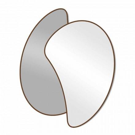 Specchio da Parete di Design Grande con Cornice Colorata Moderno - Mantra