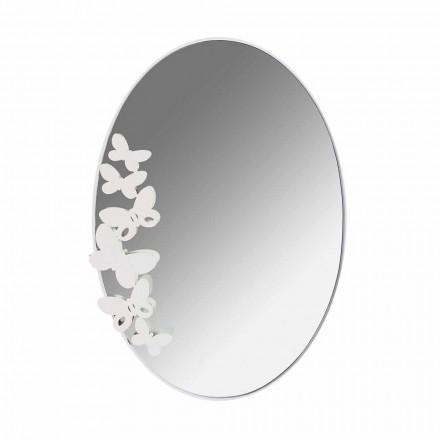 Specchio da Parete di Design Moderno Ovale in Ferro Made in Italy – Butter