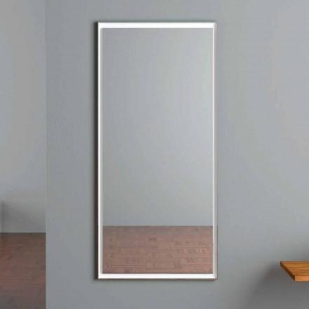 Specchio da Parete Illuminato LED con Interruttore Touch Made in Italy - Ammar