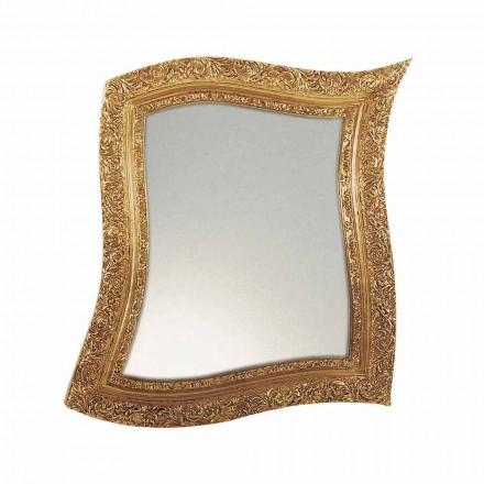 Specchio da Parete in Stile Barocco in Ferro Oro e Argento Made in Italy – Rudi