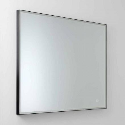 Specchio da Parete Quadrato con LED in Vetro Satinato Made in Italy - Mirro