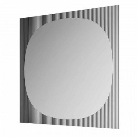 Specchio da Parete Quadrato Moderno Color Fumè Made in Italy – Bandolero