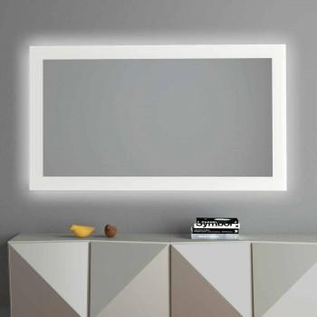 Specchio da Parete Retroilluminato con Cornice Sabbiata Made in Italy - Edigio