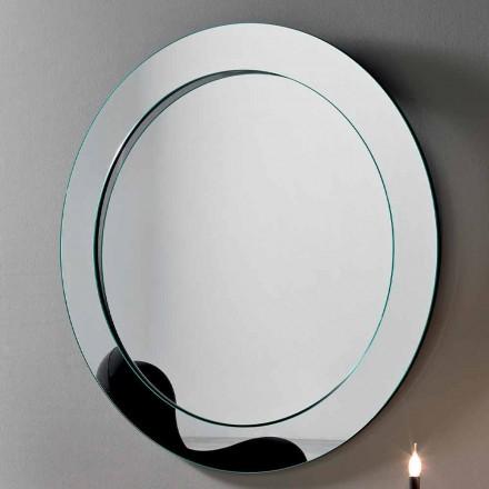 Specchio da Parete Rotondo con Cornice Inclinata Made in Italy – Salamina