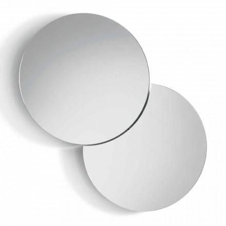 Specchio da Parete Rotondo con Satellite che Ruota a 360° Made in Italy – Shaki