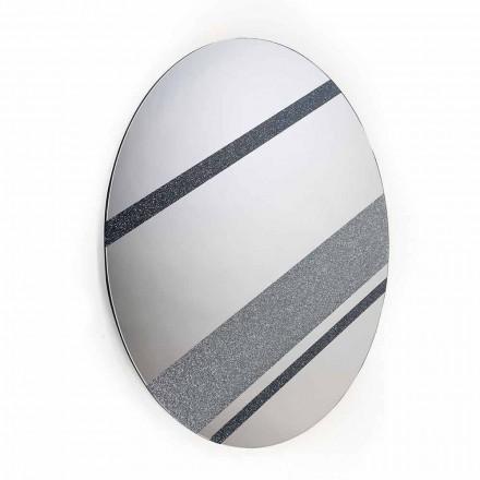 Specchio da parete rotondo di design moderno 100% Made in Italy Athos
