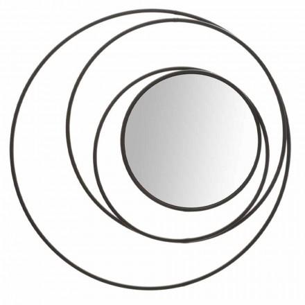 Specchio da Parete Rotondo di Design Moderno in Ferro, Selda