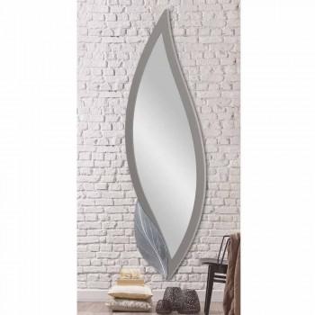 Specchio da parete sagomato moderno laccato tortora made Italy Sagama