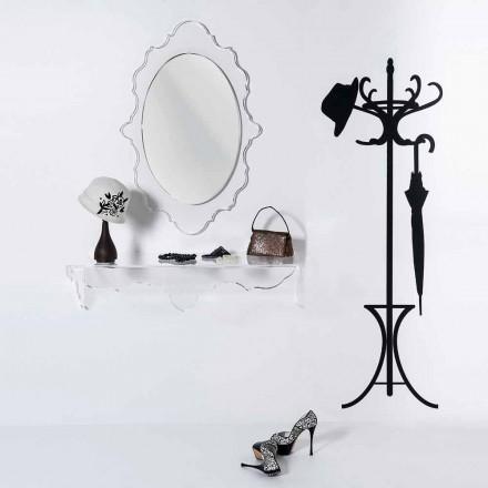Specchio da parete trasparente di design Joy,made in Italy