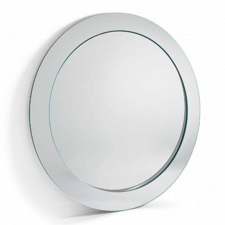Specchio da Terra Rotondo Moderno con Cornice Inclinata Made in Italy – Salamina
