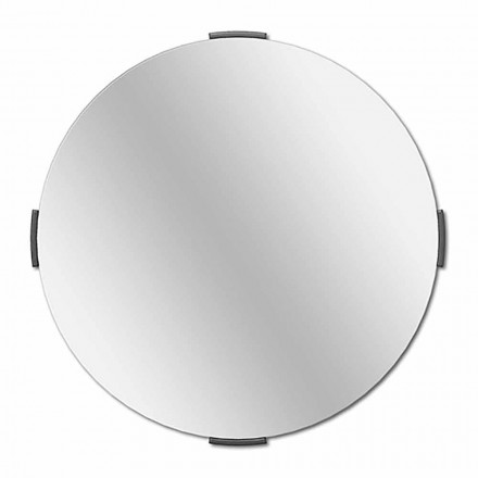 Specchio Decorativo a Muro di Design Tondo Moderno a Sbalzo con Cornice - Odosso