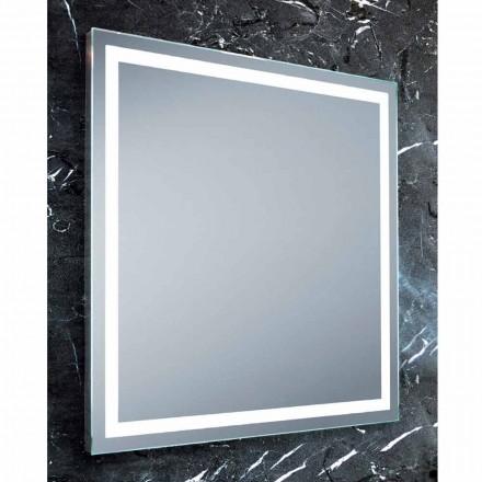 Specchio design moderno da bagno con illuminazione LEDPaco