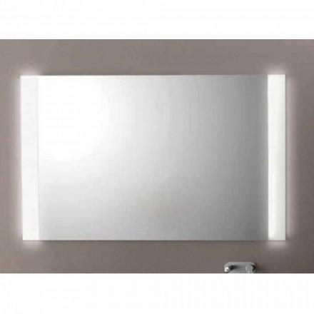 Specchio moderno da bagno con luci LED,L1200xh.900 mm, Agata