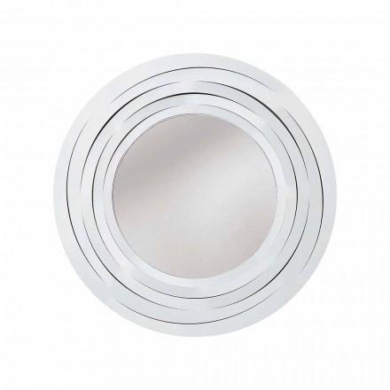 Specchio Moderno da Parete Circolare in Ferro Colorato Made in Italy – Origano