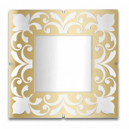 Specchio Quadrato Cornice in Plexiglass Oro, Bronzo, Argento di Design - Foscolo