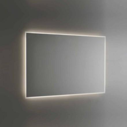 Specchio Retroilluminato da Bagno con Cornice Sabbiata Made in Italy - Floriana