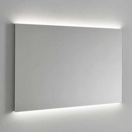 Specchio Retroilluminato a LED da Parete, Cornice Acciaio Made in Italy - Tundra