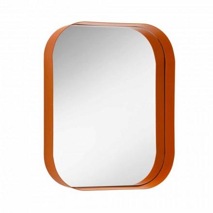 Specchio Rettangolare Arrotondato, Cornice in Metallo Made in Italy - Alexandra